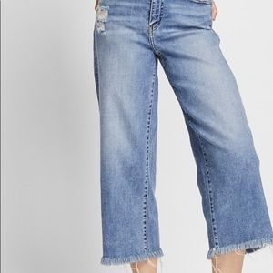 High-rise wise cropped jeans
